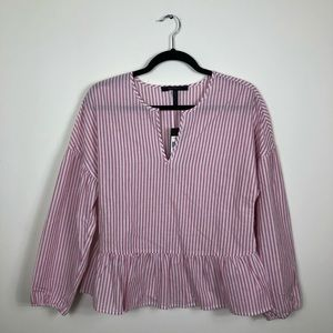 BCBGMaxAzria || Sangria Striped Blouse
